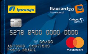 Cartão Ipiranga Itaucard 2.0 international mastercard